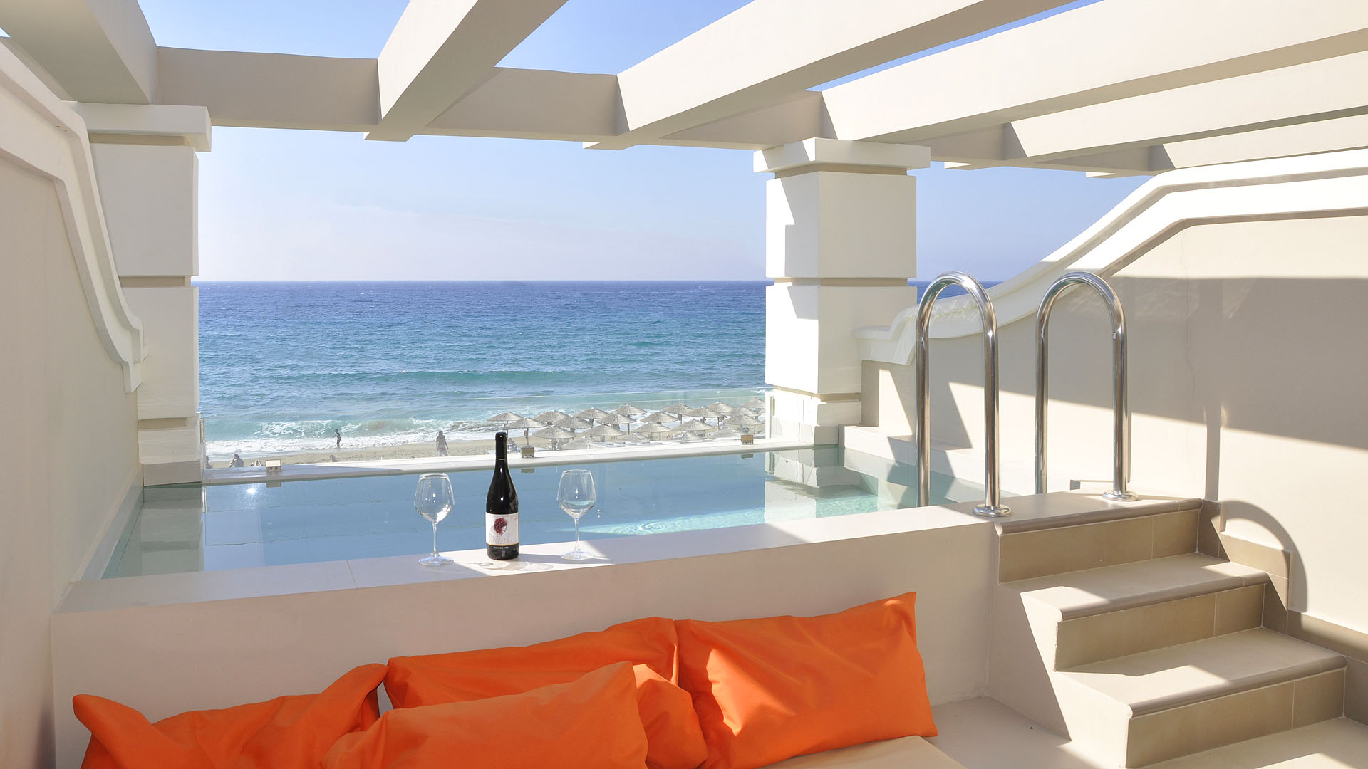 agios gordios beach resort private pool